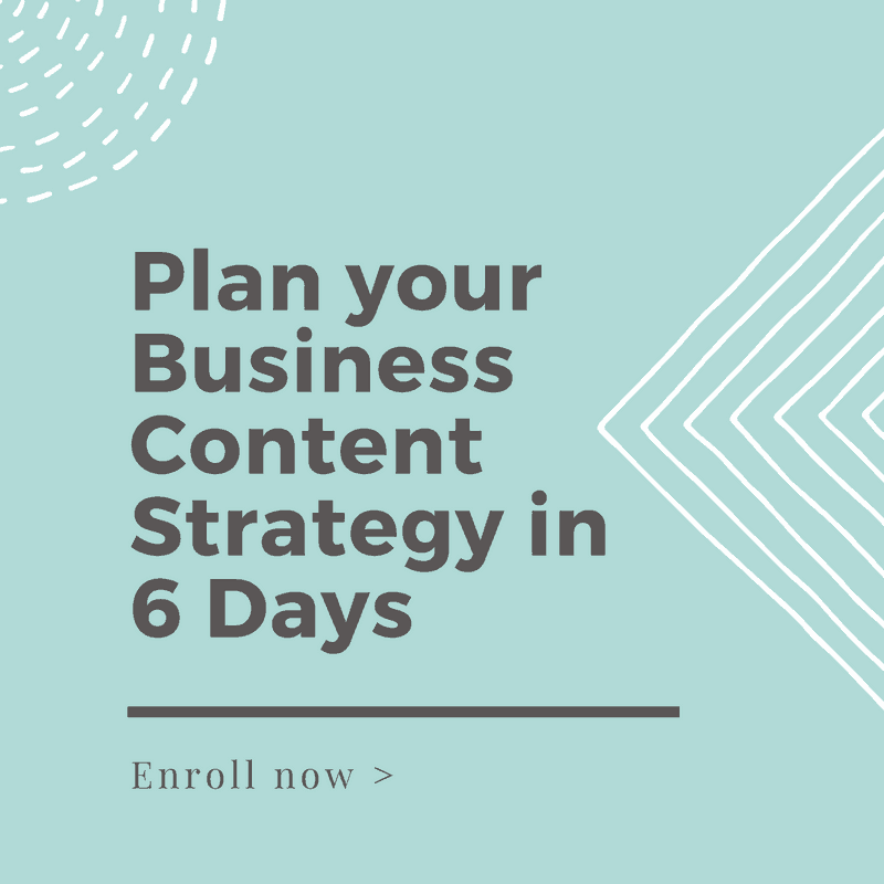 Business Content Strategy Course
