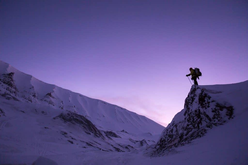 successful entrepreneur hiking